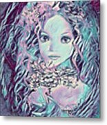 Blue Fairy Princess Metal Print