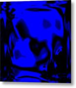 Blue Fashion Metal Print