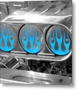 Blue Flames Metal Print