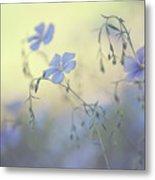 Blue Flex Flower. Nostalgic Metal Print