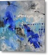 Blue Flight Abstract Metal Print
