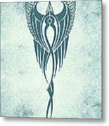 Blue Flight Contemporary Minimalism Metal Print
