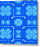 Blue Flowers Abstract Metal Print