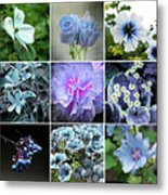 Blue Flowers All Metal Print