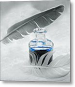 Blue Fly  Metal Print