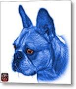 Blue French Bulldog Pop Art - 0755 Wb Metal Print