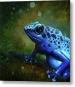 Blue Frog Metal Print by Caroline Jamhour