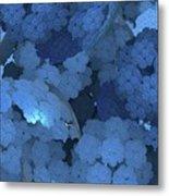 Blue Fungi Metal Print