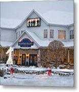 Blue Gate Restaurant Shipshewana In Winter Metal Print