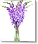 Blue  Gladiolus Metal Print