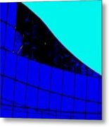 Blue Glass Abstract Metal Print