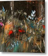 Blue Grass And Wild Flowers Metal Print