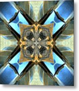 Blue, Green And Gold Abstract Metal Print