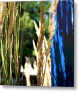 Blue Green Metal Print