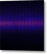 Blue Grid Metal Print