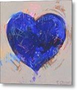 Blue Heart 126 Metal Print