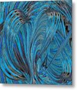 Blue Hearts Open Metal Print