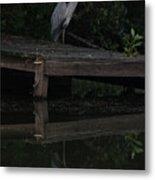 Blue Heron At Dusk Metal Print