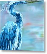 Blue Heron Metal Print by Holly Donohoe