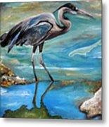 Blue Heron I Metal Print