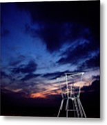 Blue Hole Tower Metal Print