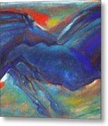 Blue Horses 2 Metal Print