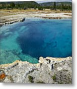 Blue Hot Springs Yellowstone National Park Metal Print