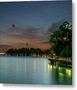 Blue Hour Harbourfront Singapore Metal Print