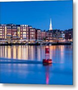 Blue Hour Over Portsmouth New Hampshire Metal Print