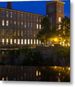 Blue Hour Over The Cocheco Mills Dover New Hampshire Metal Print