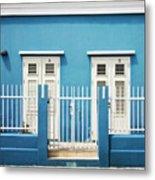 Blue Curacao House Metal Print