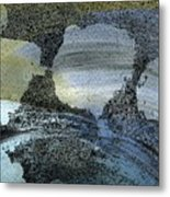 Blue Ice Pond 2  Metal Print