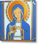 Blue Icon Metal Print