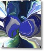Blue Impression Metal Print