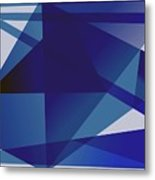Blue In Blue Metal Print