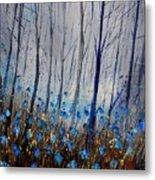 Blue In The Wood Metal Print