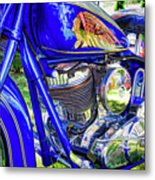Blue Indian Metal Print