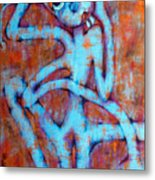 Blue Instinct Metal Print