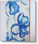 Blue Irises Metal Print