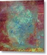 Blue Iron Texture Painting Metal Print