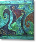 Blue Island Curves Metal Print