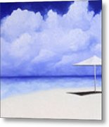 Blue Isolation Metal Print