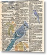 Blue Jay Expire Metal Print