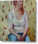 Blue Jeans Girl              Copyrighted Metal Print