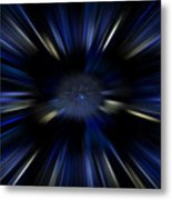 Blue Jets Pattern Metal Print
