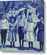 Blue Kids Metal Print