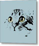 Blue Kitten Portrait Metal Print