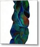 Blue Ladder Metal Print