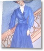 Blue Lady Metal Print