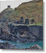 Blue Lagoon 2 Abereiddy Wales Metal Print